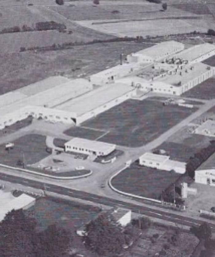 Vue aérienne du site de Chantonnay – 1975